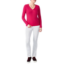 Buy Pure Collection V-Neck Cashmere Jumper Online at johnlewis.com
