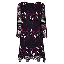 Buy Karen Millen Floral Lace Mini Dress, Multi Online at johnlewis.com
