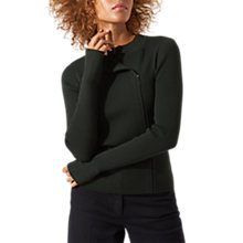 Buy Jigsaw Side Zip Ribbed Jumper, Midnight Green Online at johnlewis.com