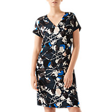 Buy Jigsaw Floral Thistle Constance Dress, Midnight Green Online at johnlewis.com