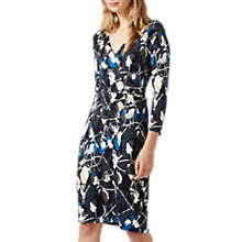 Buy Jigsaw Floral Thistle Wrap Dress, Midnight Green Online at johnlewis.com