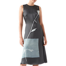 Buy Jigsaw Thistle Salena Dress, Midnight Green Online at johnlewis.com
