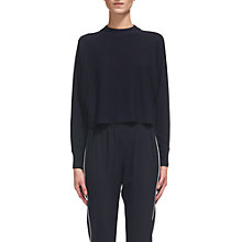 Buy Whistles Dolman Crop Knit Jumper, Navy Online at johnlewis.com