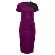 Buy Winser Miracle Guipre Lace Shift Dress, Plum Online at johnlewis.com