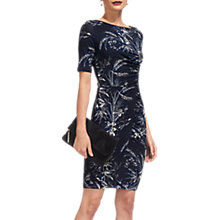 Buy Whistles Short Sleeve Jersey Bodycon Dress, Navy Online at johnlewis.com