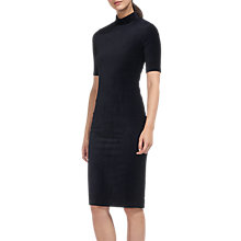 Buy Whistles Velvet Jersey Dress, Navy Online at johnlewis.com