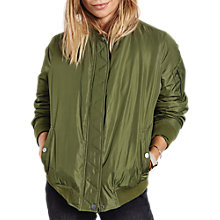 Buy hush Eliot Padded Bomber Jacket, Olive Online at johnlewis.com