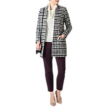 Buy Pure Collection Checked Edge to Edge Coat, Monochrome Online at johnlewis.com