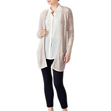 Buy Pure Collection Longline Cashmere Cardigan, Marble Online at johnlewis.com