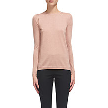 Buy Whistles Sparkle Crew Neck Jumper, Pale Pink Online at johnlewis.com