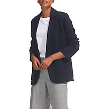 Buy Whistles Textured Long Sleeve Blazer, Navy Online at johnlewis.com