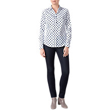Buy Pure Collection Polka Dot Cotton Shirt, White Online at johnlewis.com