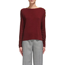 Buy Whistles Side Button Jumper, Red Online at johnlewis.com