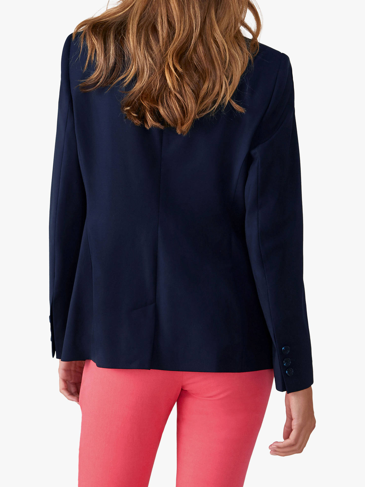 Buy Pure Collection Tailored Blazer, Navy, 14 Online at johnlewis.com