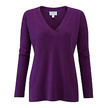 Buy Pure Collection Relaxed V-Neck Cashmere Jumper Online at johnlewis.com