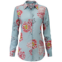 Buy Pure Collection Washed Silk Blouse, Painted Floral Online at johnlewis.com