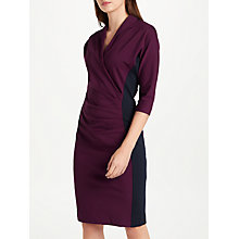 Buy Winser London Grace Colour Block Dress, Plum/Midnight Navy Online at johnlewis.com