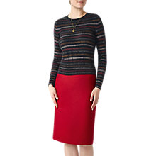Buy Pure Collection Cropped Cashmere Jumper, Sparkle Snowflake Online at johnlewis.com