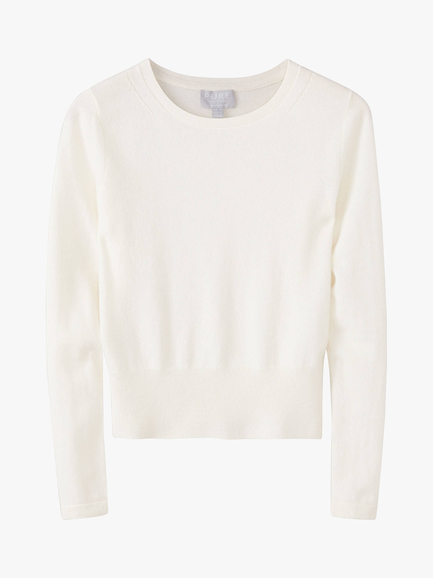 BuyPure Collection Cropped Cashmere Sweater, Soft White, 8 Online at johnlewis.com
