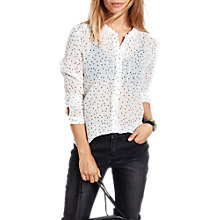 Buy hush Alessia Star Shirt, White/Black Online at johnlewis.com