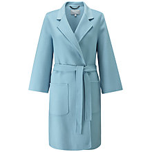 Buy Pure Collection Easy Double Faced Coat, Soft Blue Online at johnlewis.com