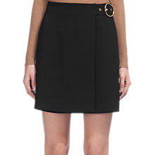 Buy Whistles Apri Wrap Buckle Skirt, Black Online at johnlewis.com