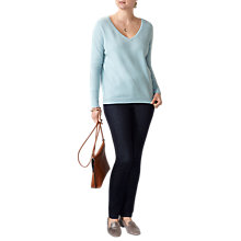 Buy Pure Collection Boyfriend Cashmere Sweater, Duck Egg Online at johnlewis.com