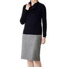 Buy Pure Collection Cashmere Cowl Neck Jumper, Black Online at johnlewis.com