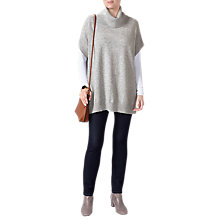 Buy Pure Collection Tabard Cashmere Jumper, Heather Dove Online at johnlewis.com
