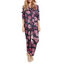 Buy hush Hydrangea Cotton Pyjamas, Navy/Pink Online at johnlewis.com