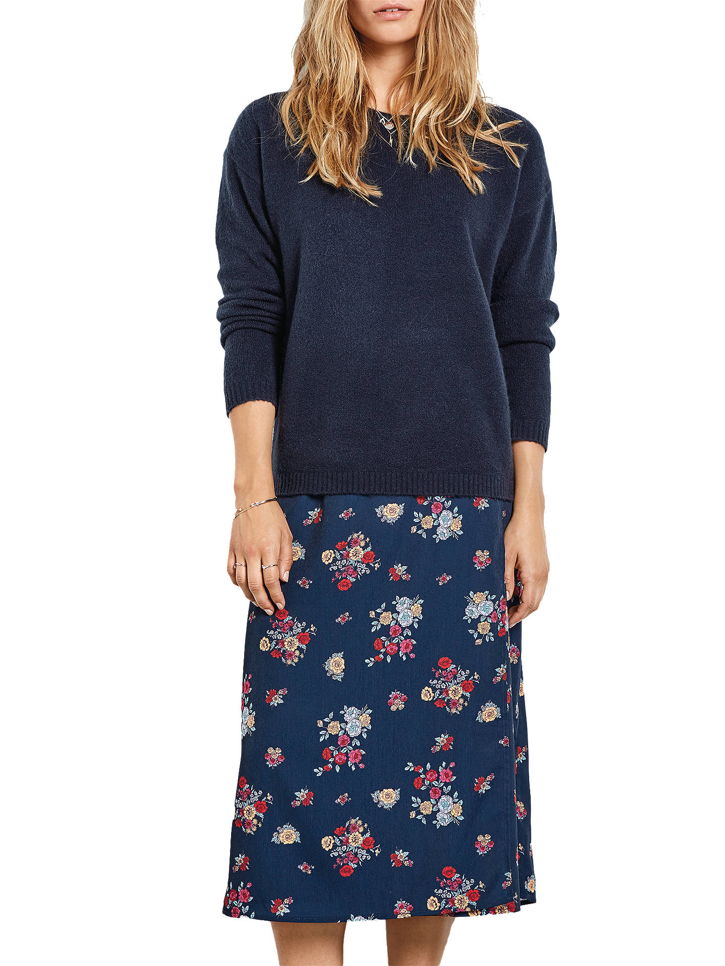 Buyhush Vienna Floral Wrap Skirt, Navy, 6 Online at johnlewis.com