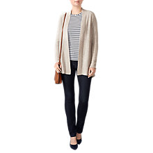 Buy Pure Collection Split Back Cashmere Cardigan, Marble Online at johnlewis.com