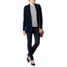 Buy Pure Collection Split Back Cashmere Cardigan, Navy Online at johnlewis.com