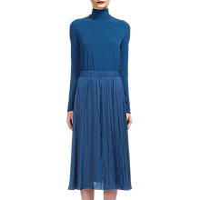 Buy Whistles Tami Jersey Mix Midi Dress, Teal Online at johnlewis.com
