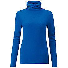 Buy Pure Collection Gassato Cashmere Polo Neck Sweater Online at johnlewis.com