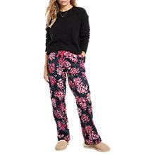 Buy hush Hydrangea Cotton Pyjama Trousers, Navy/Pink Online at johnlewis.com