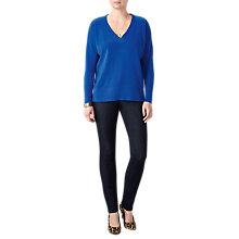 Buy Pure Collection Relaxed V-Neck Cashmere Jumper, Vivid Sapphire Online at johnlewis.com