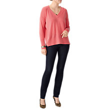 Buy Pure Collection Cashmere Featherweight Boyfriend Jumper, Peach Online at johnlewis.com