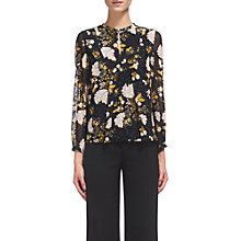Buy Whistles Belize Silk Blouse, Black/Multi Online at johnlewis.com