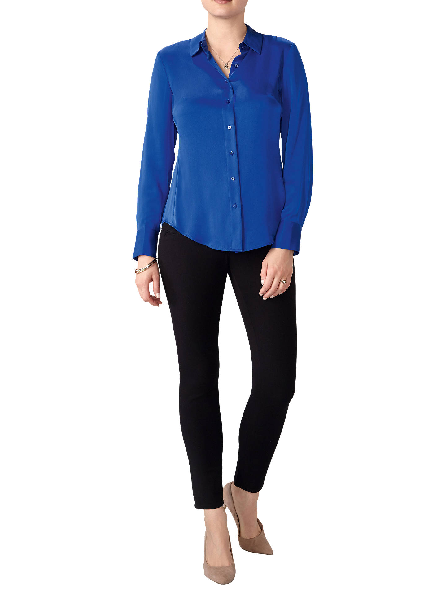 BuyPure Collection Pure Silk Blouse, Bright Sapphire, 8 Online at johnlewis.com