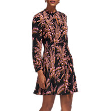 Buy Whistles Camille Wren Print Dress, Black/Multi Online at johnlewis.com