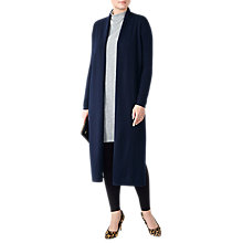 Buy Pure Collection Wool Blend Midi Length Cardigan, Navy Online at johnlewis.com