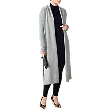 Buy Pure Collection Midi Length Cardigan, Heather Grey Online at johnlewis.com