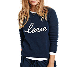 Buy hush Love Jumper, Midnight/White Online at johnlewis.com