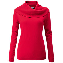 Buy Pure Collection Cashmere Cowl Neck Sweater, Rich Red Online at johnlewis.com