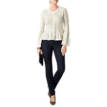 Buy Pure Collection Cashmere Flute Sleeve Cardigan, Soft White Online at johnlewis.com