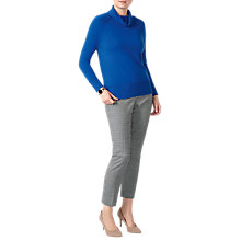 Buy Pure Collection Ribbed Trim Polo Neck Jumper Online at johnlewis.com