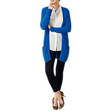 Buy Pure Collection Cashmere Longline Cardigan, Vivid Sapphire Online at johnlewis.com