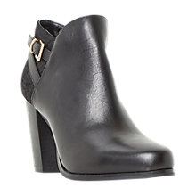 Buy Dune Oak Block Heeled Ankle Boots, Black Online at johnlewis.com