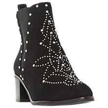 Buy Dune Octal Block Heeled Embellished Ankle Boots, Black Online at johnlewis.com